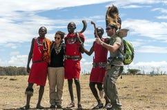 Porträt des Masais Mara stockfotos