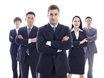 Porträt des multinationalen Geschäftsteams stockbild