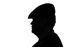 Porträt des netten dicken Mannes in einem Hut Stockfoto