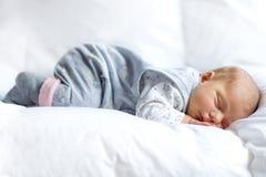 Porträt des netten entzückenden neugeborenen Babyschlafens Lizenzfreies Stockbild