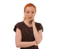 Porträt eines attraktiven jungen Redhead Stockfotos