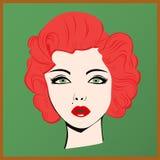 Porträt des roten Mädchens Stockbild