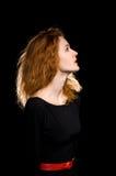 Porträt des rothaarigen Mädchens stockbilder