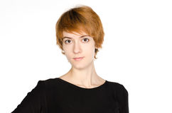 Porträt des rothaarigen Mädchens lizenzfreie stockbilder
