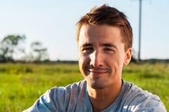 Porträt des schönen jungen Mannes Lizenzfreies Stockbild