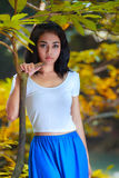 Porträt des schönen Mädchens. Stockbilder