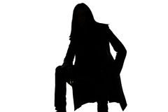 Porträt des Schattenbildes des Mannes - sitteth Stockbild
