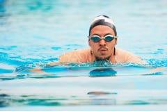 Porträt des Schwimmensportlers Stockbilder
