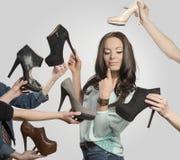 Porträt des sexy Mädchens in der Einkaufszeit Lizenzfreie Stockfotos