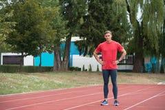 Porträt des Sitz-Sprinters lizenzfreies stockfoto