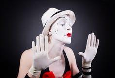 Porträt des Theaterpantomimen Lizenzfreies Stockbild