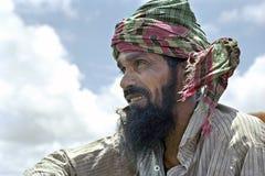 Porträt des unglücklichen bangladeschischen Bauers Stockfoto