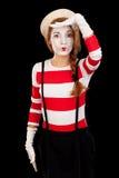 Porträt des weiblichen Schauspielers MIM Stockbild