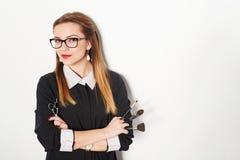 Porträt des weiblichen Stilisten Stockbilder