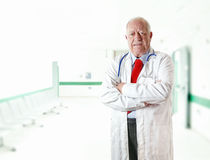Porträt-Doktorsenior Stockfotografie