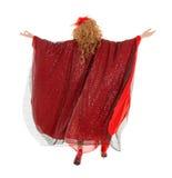 Porträt-Dragqueen in der Frauen-Kleideransicht von der Rückseite lizenzfreie stockfotografie