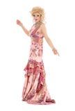 Porträt-Dragqueen in der rosa Abend-Kleiderausführung lizenzfreie stockbilder