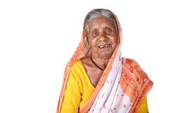 Porträt einer alten Frau, ältere indische Frau Lizenzfreie Stockfotografie