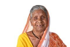 Porträt einer alten Frau, ältere indische Frau Stockfotos