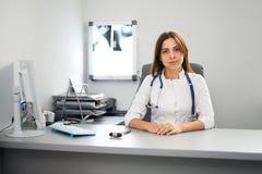 Porträt einer Arztpraxis Stockbild