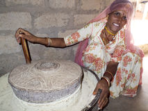Porträt einer Bishnoi-Frau. Stockbilder