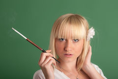 Porträt einer Blondine Stockbilder