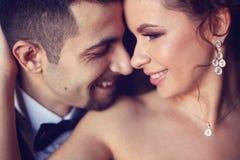 Porträt einer Braut und des Bräutigams Stockfoto