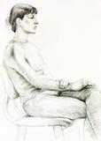 Porträt einer Frau lizenzfreie abbildung