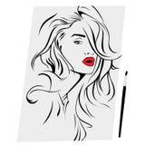 Porträt einer Frau Stockbild