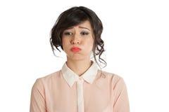 Trauriges brunetka Lizenzfreie Stockfotos