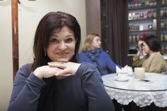 Porträt einer Frau 40 Jahre Lizenzfreies Stockfoto