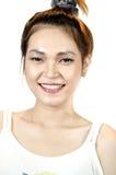 Porträt einer glücklichen asiatischen Frau   Lizenzfreie Stockfotografie