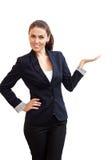 Porträt einer jungen attraktiven Geschäftsfrau lizenzfreies stockfoto