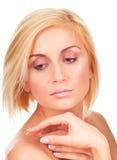 Weiches und sinnliches weibliches Porträt Lizenzfreie Stockfotos
