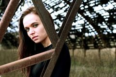 Porträt einer jungen Frau Lizenzfreie Stockbilder