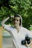 Porträt einer jungen Frau Stockfotografie