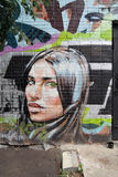 Porträt einer jungen Frau Lizenzfreies Stockbild