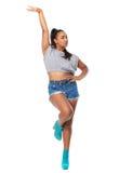 Porträt einer jungen Frau in der Tanzhaltung stockfoto