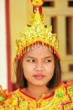Porträt einer jungen Frau im traditionellen Kostüm während der Hochzeit Lizenzfreie Stockbilder