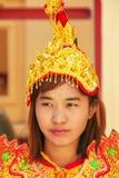 Porträt einer jungen Frau im traditionellen Kostüm während der Hochzeit Stockfotos