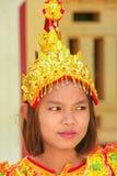 Porträt einer jungen Frau im traditionellen Kostüm während der Hochzeit Lizenzfreies Stockfoto