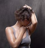 Porträt einer jungen, nassen Frau Lizenzfreies Stockbild
