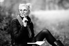 Porträt einer jungen Schönheit blond Lizenzfreies Stockfoto