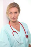 Porträt einer Krankenschwester Stockfotos