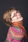 Porträt einer lächelnden Frau Lizenzfreie Stockbilder