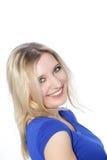 Porträt einer lächelnden jungen Frau Stockfotos