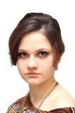 Porträt einer Nahaufnahme des jungen Mädchens stockfotos