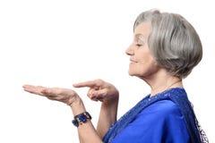 Porträt einer netten alten Frau stockbilder