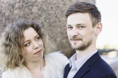 Porträt einer Paarnahaufnahme Lizenzfreies Stockbild
