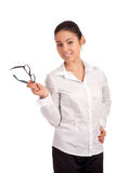 Porträt einer recht jungen Geschäftsfrau Lizenzfreie Stockbilder